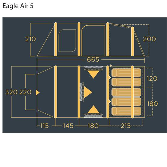 Lichfield Eagle 5 Air Tent Package (2021) image 23