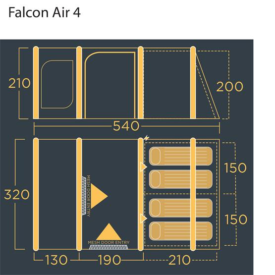 Lichfield Falcon 4 Air Tent Package (2021) image 11
