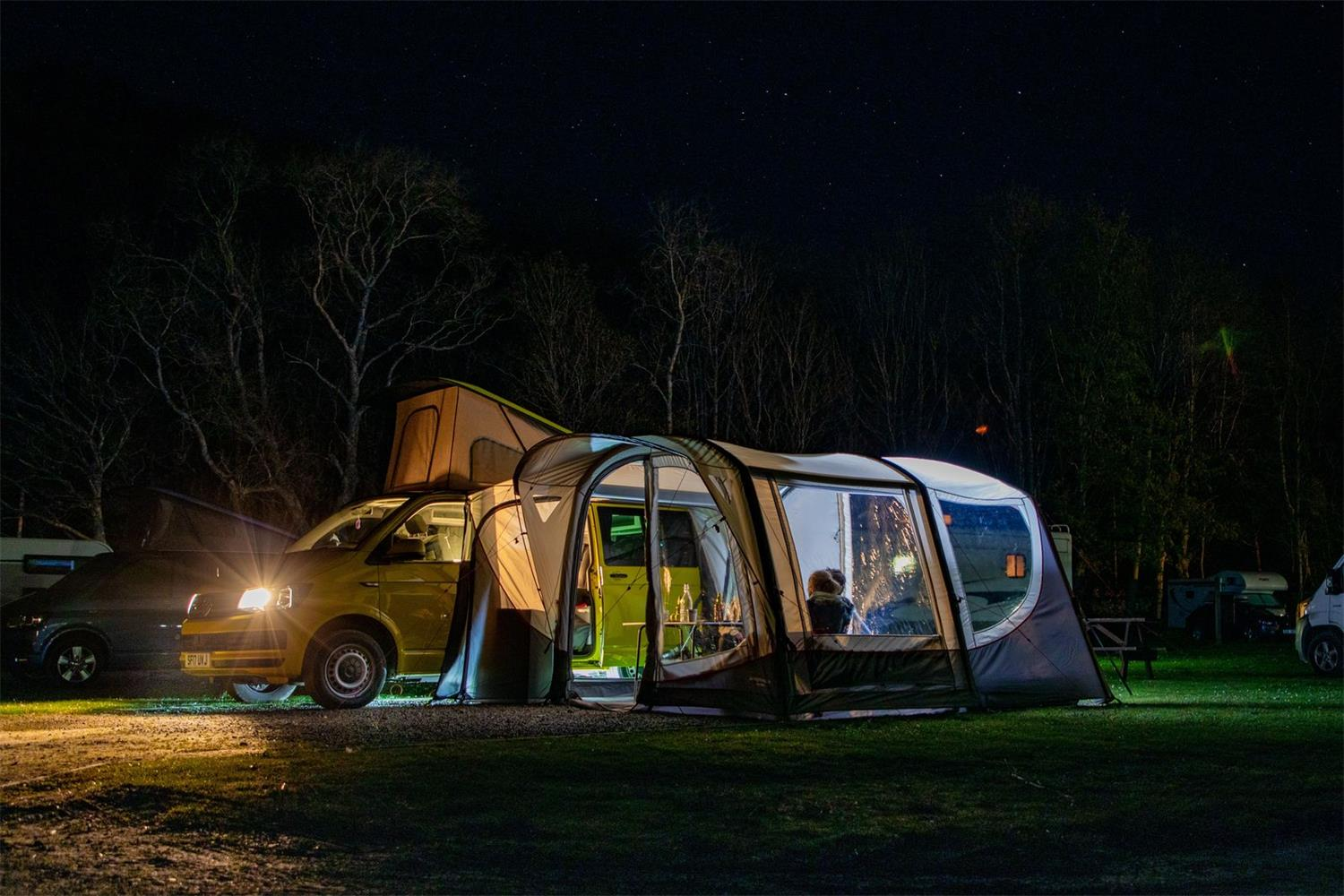 The Vango Magra VW deivwaway awning, designed for those who love an outdoor active life.