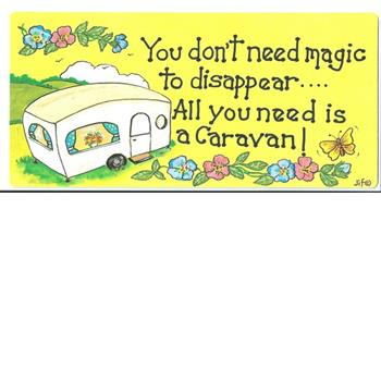 Caravan Signs Keyrings and Cards
