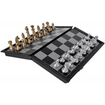 Magnetic travel folding caravan chess set