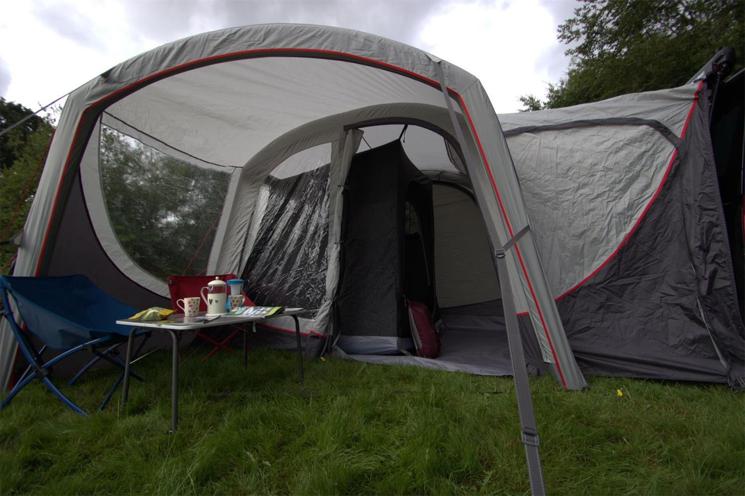 Create a private bedroom in the Vango Magra with the sports awning bedroom.