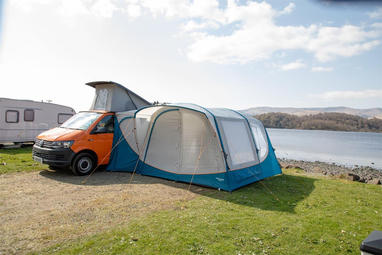 Relax and watch the hours go by in the Vango Magra VW driveaway awning.