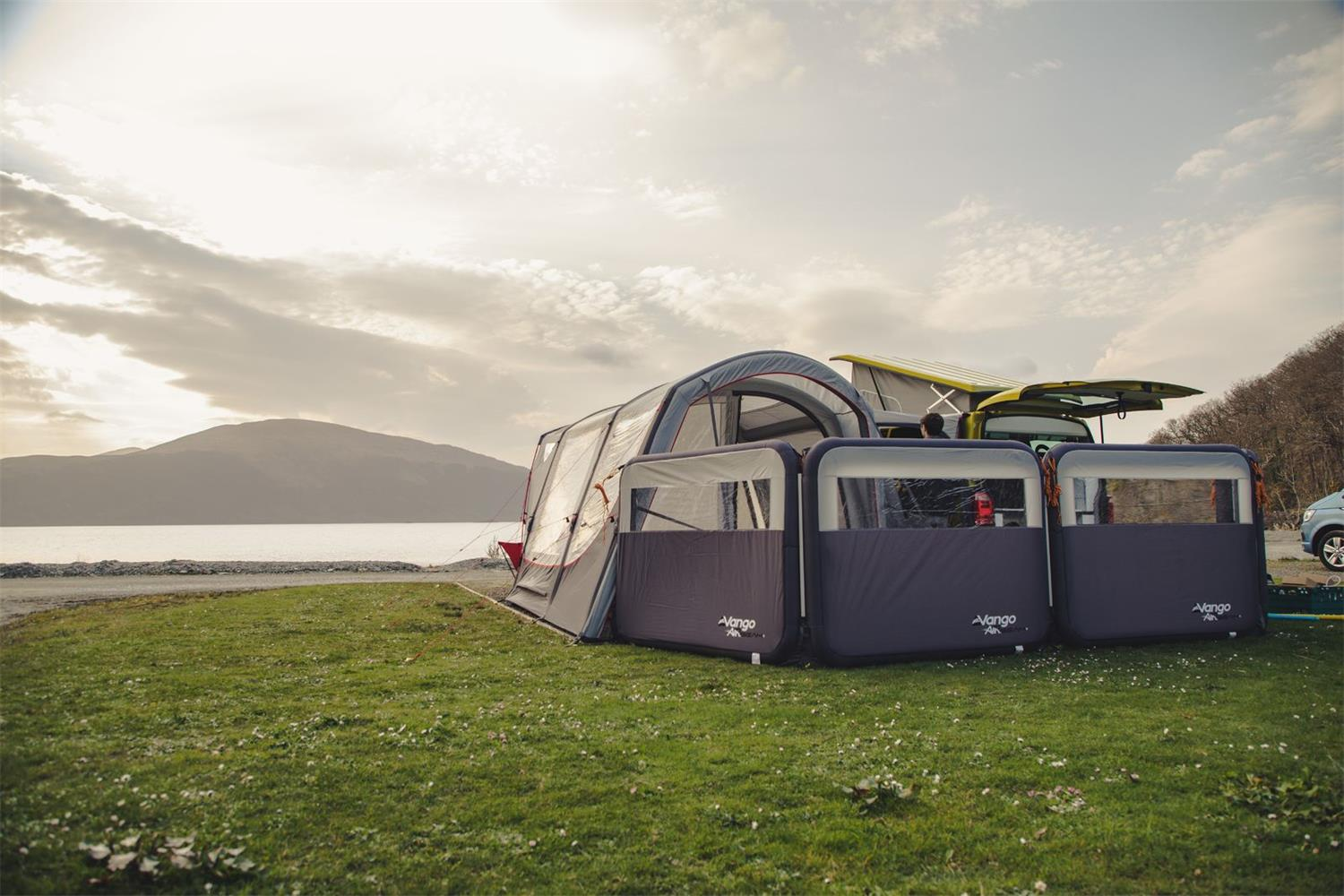 Watch the hours go by in style in the Vango Magra Sport VW driveaway awning.
