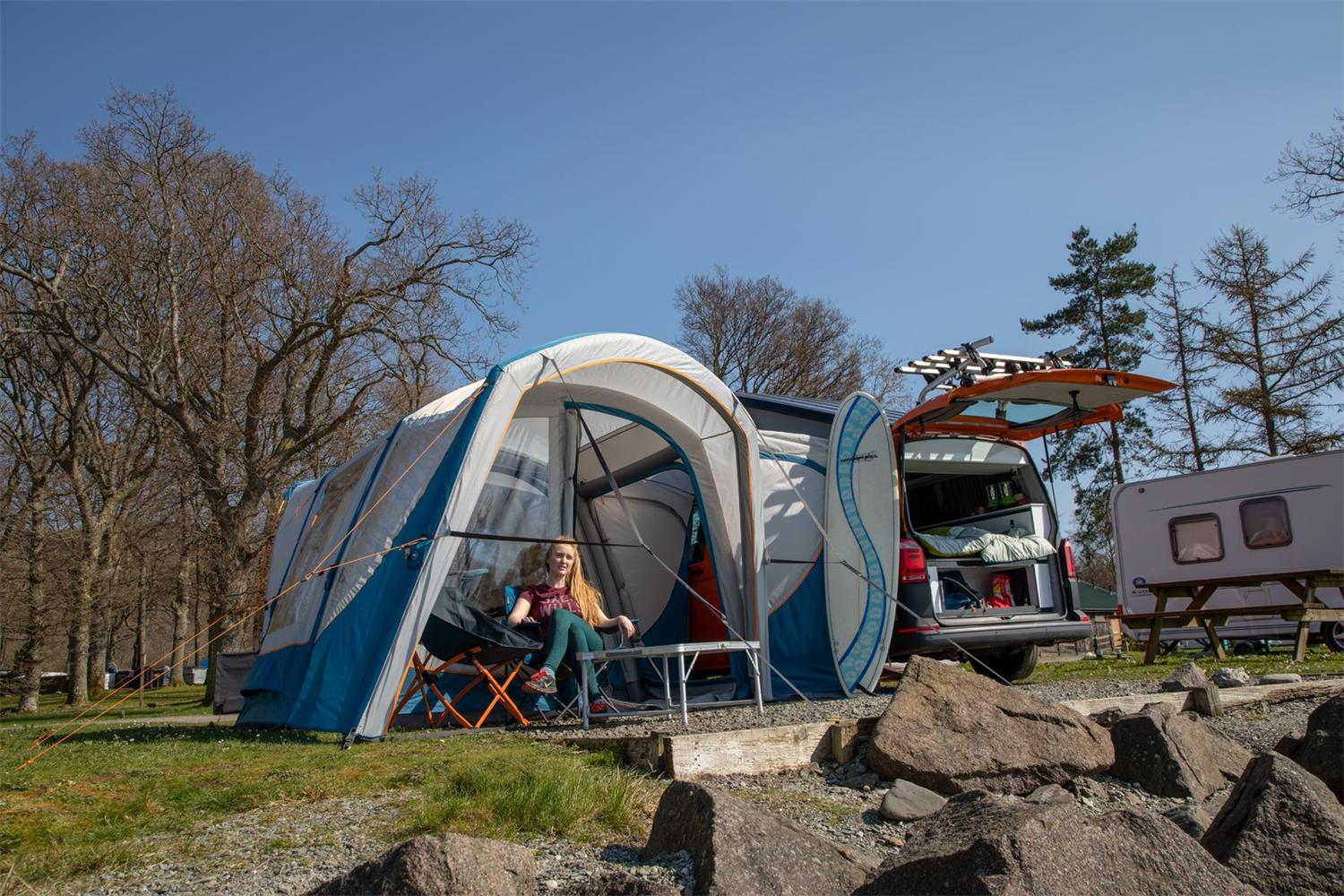 Create a versatile pitch with the Vango Magra Sport awning.