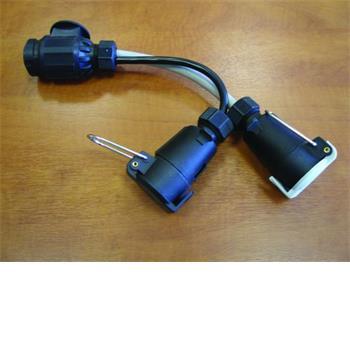 Milenco Adaptor Lead Twin Electrics (car twin 7pin, caravan 13pin)