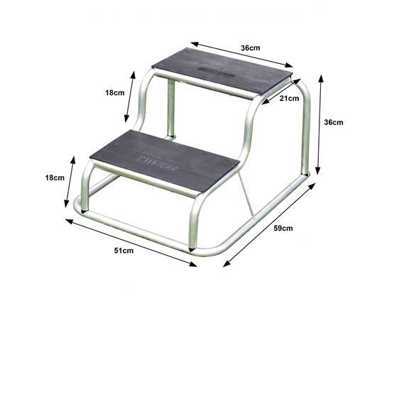 Milenco Aluminium Rubber Top Double Step image 4