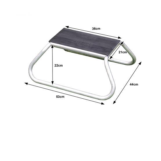 Milenco Aluminium Rubber Top Single Step image 3