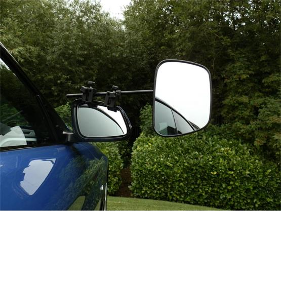 Milenco Grand Aero Extra wide convex/standard  Towing Mirror - Convex (Twin Pack) image 1