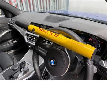 Milenco High Security Steering Wheel Lock + Yellow with Pad and Bag