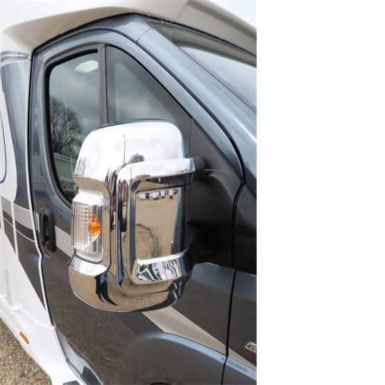 Milenco Motorhome Mirror Covers (Wide Arm) - Chrome image 5