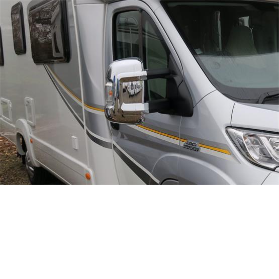 Milenco Motorhome Mirror Covers (Wide Arm) - Chrome image 1