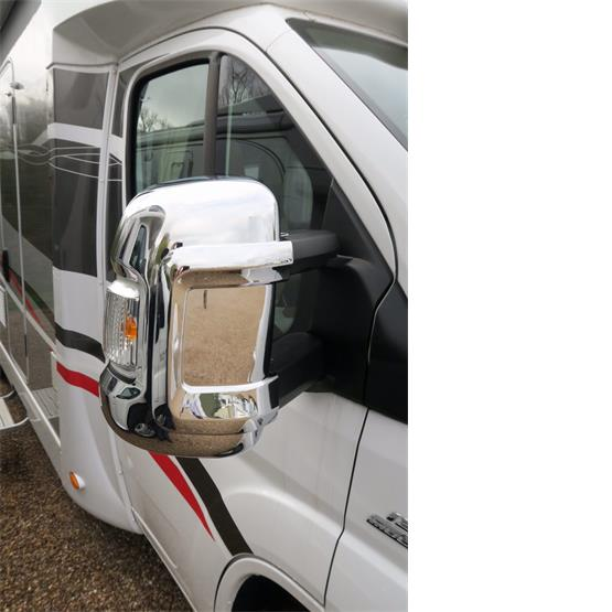 Milenco Motorhome Mirror Covers (Wide Arm) - Chrome image 2