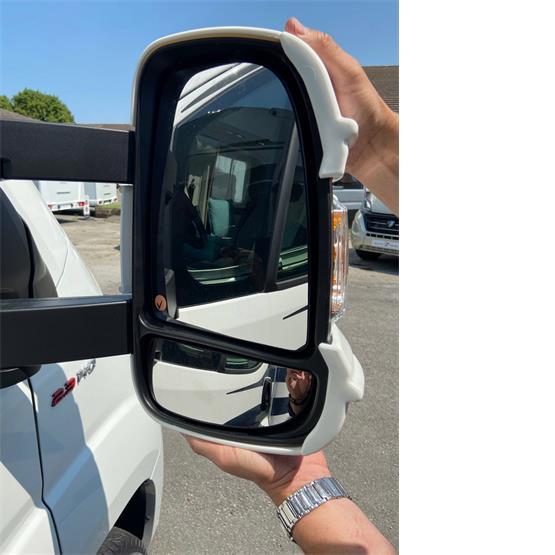 Milenco Motorhome Mirror Protectors White (Wide Arm) image 4
