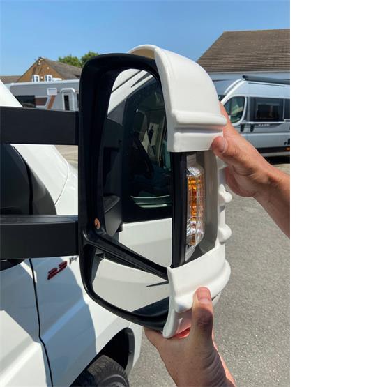 Milenco Motorhome Mirror Protectors White (Wide Arm) image 3