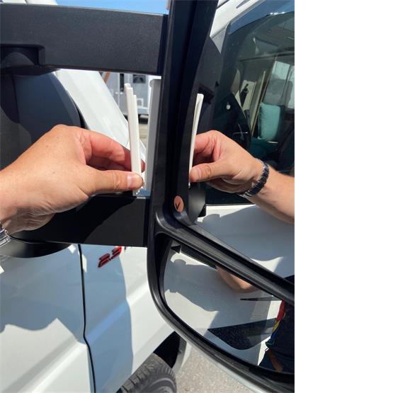 Milenco Motorhome Mirror Protectors White (Wide Arm) image 5