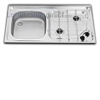 Smev MO921 2 Burner Caravan Hob/Sink Combination Left