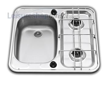 SMEV MO927 2-Burner Caravan Hob/Sink Combination Left Hand