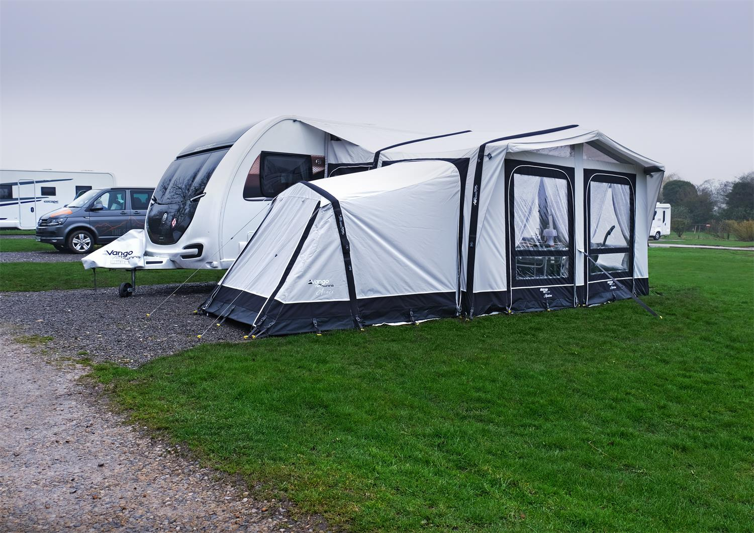 Vango's Montelena Caravan Awning can have an annex fitted.
