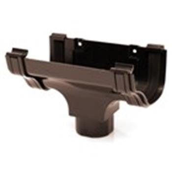 Ogee Downpipe Connector/Hopper in Brown