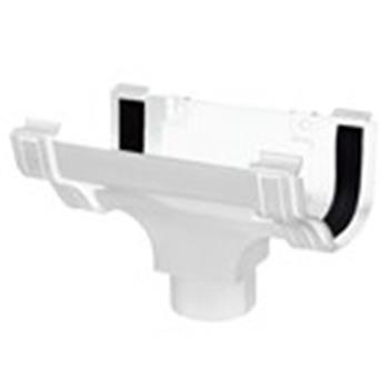 Ogee Downpipe Connector/Hopper in White image 1