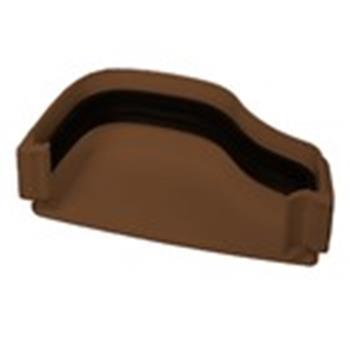 Ogee Guttering External Left Hand End Cap in Brown