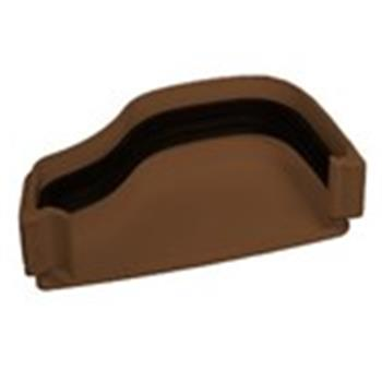 Ogee Guttering External Right Hand End Cap in Brown image 1