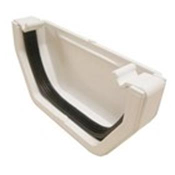 Ogee Guttering External Right Hand End Cap in White image 1