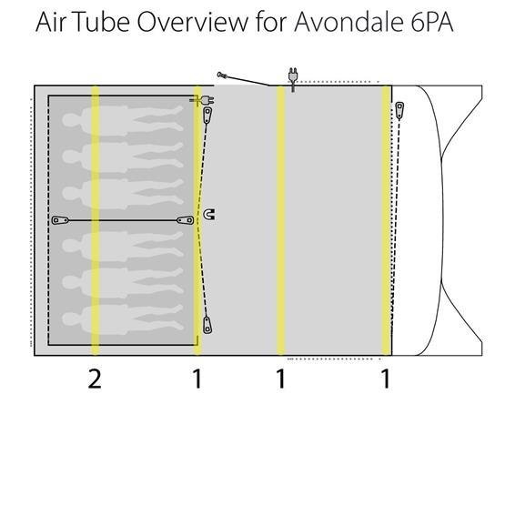 Outwell Tent Avondale 6PA Air Tent 2020 image 14