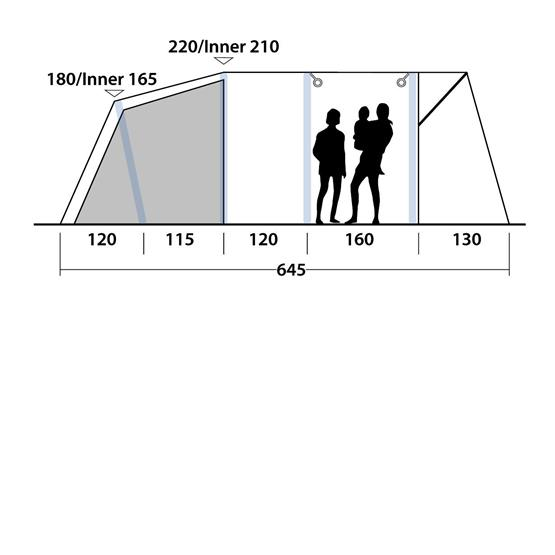Outwell Tent Avondale 6PA Air Tent 2020 image 12