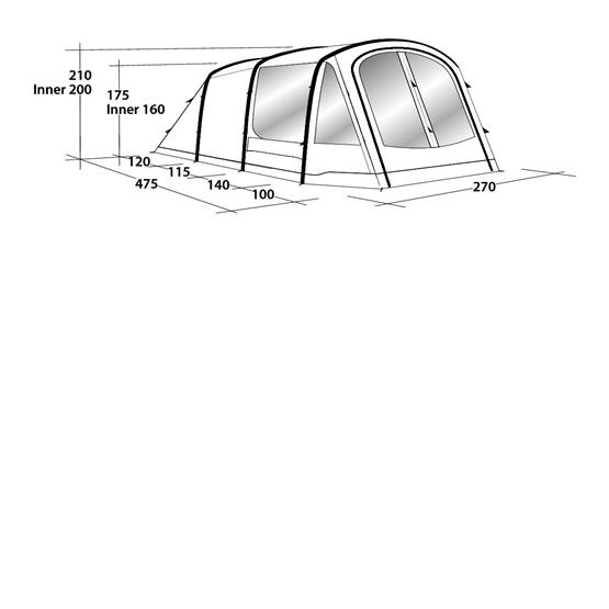 Outwell Tent Rosedale 4PA Air Tent 2020 image 9