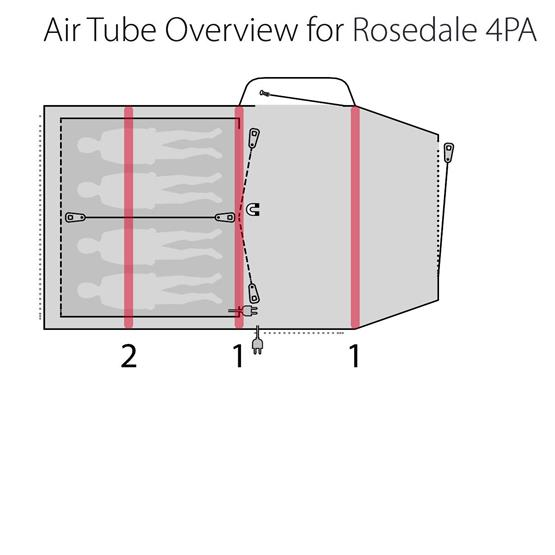 Outwell Tent Rosedale 4PA Air Tent 2020 image 14