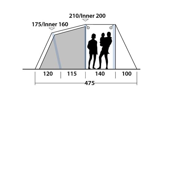 Outwell Tent Rosedale 4PA Air Tent 2020 image 12