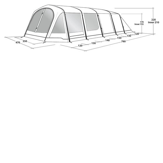Outwell Wood Lake 7 ATC Family Tent (2021) image 15