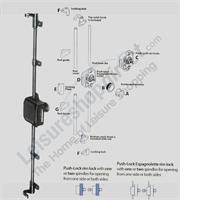 Push Lock System for Caravan Interior Doors