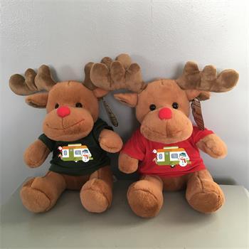 Reindeer Xmas Teddy in Tshirt