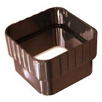 Royal Gutter Downpipe Connector Collar In Brown