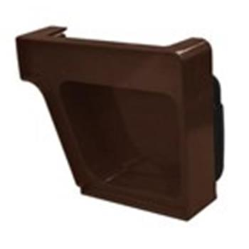 Royal Holiday Home Guttering End Cap in Brown, Right Hand