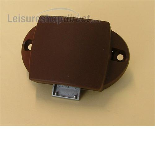 Rim lock for Touring Caravans (standard) for cupboard - Black