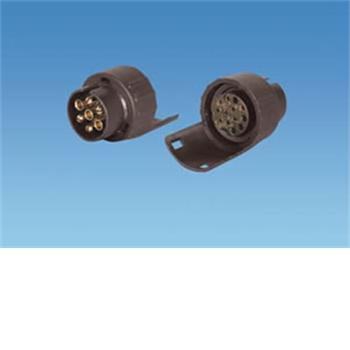 short conversion 13 pin socket to 7 pin plugs