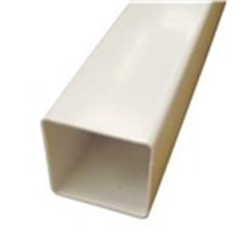 Square Line Downpipe, 2.5M x 65mm in White (used by Regal, Victory, ABI, Atlas, Swift and others) image 1