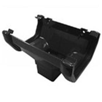 Square Line Downpipe Connector / Hopper in Black ( as used by Regal, Victory, ABI, Atlas, Swift and Others) image 1