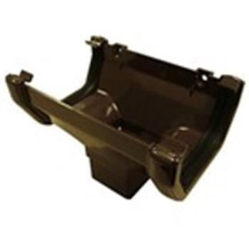 Square Line Downpipe Connector / Hopper in Brown ( as used by Regal, Victory, ABI, Atlas, Swift and Others)