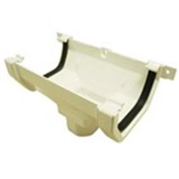 Square Line Downpipe Connector / Hopper in White ( as used by Regal, Victory, ABI, Atlas, Swift and Others) image 1