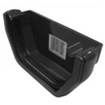 Square Line Gutter End Cap in Black (used by Regal, Victory, ABI, Atlas, Swift and others) image 1
