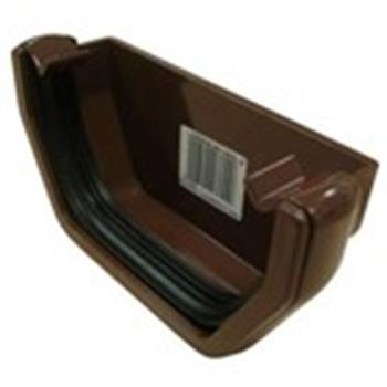 Square Line Gutter End Cap in Brown (used by Regal, Victory, ABI, Atlas, Swift and others) image 1