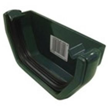 Square Line Gutter End Cap in Green (used by Regal, Victory, ABI, Atlas, Swift and others) image 1