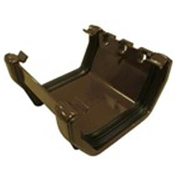 Square Line Gutter Joiner, In Brown (used by Regal, Victory, ABI, Atlas, Swift and others) image 1