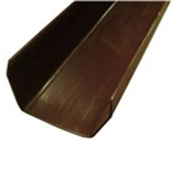 Square Line Guttering, 2M Length, 112mm in Brown (Used by Regal, Victory, ABI, Atlas,Swift and Others) image 1