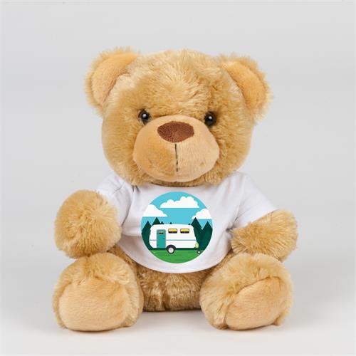 Teddy bear in TShirt with Caravan Print